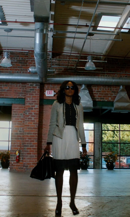 Sharon Leal with Balenciaga Papier A4 Mini Leather Tote Bag in Addicted