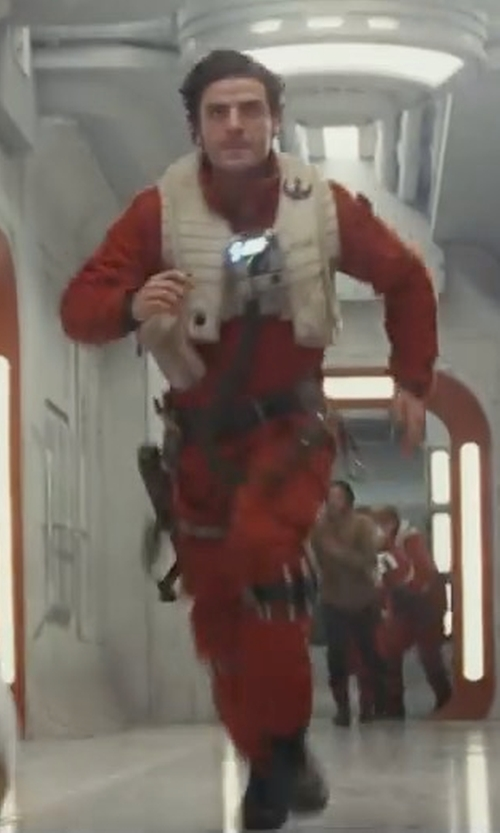 Oscar Isaac with Michael Kaplan (Costume Designer) Custom Made Flight Suit (Poe Dameron) in Star Wars: The Last Jedi