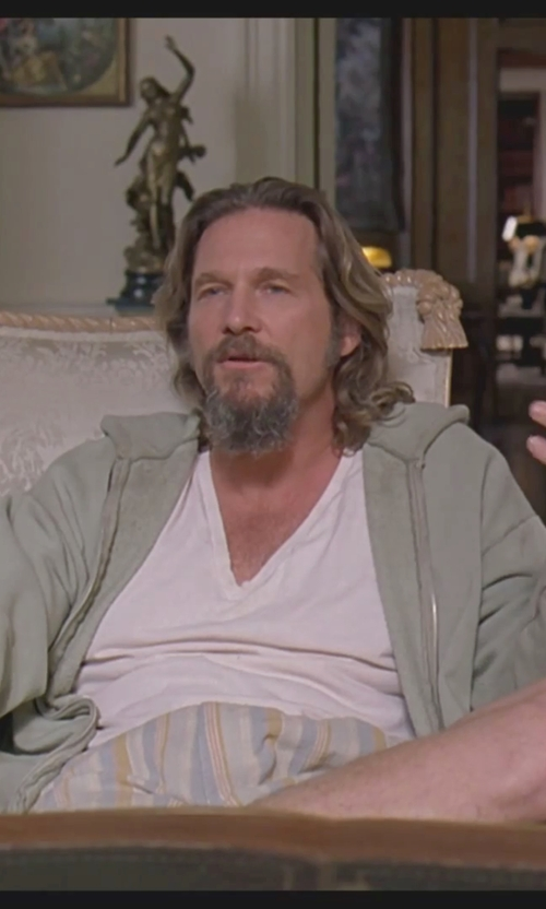 Jeff Bridges with Threads 4 Thought Men's Triblend Zip-Front Hoodie Jacket in The Big Lebowski