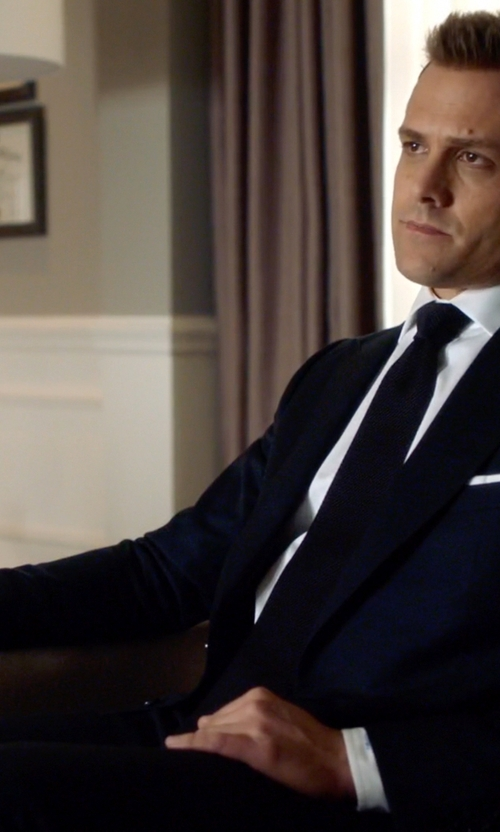 Gabriel Macht with Giorgio Armani Classic Two Piece Suit in Suits