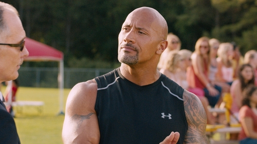 Dwayne Johnson with Under Armour Raid Sleeveless T-Shirt in The Fate of the Furious