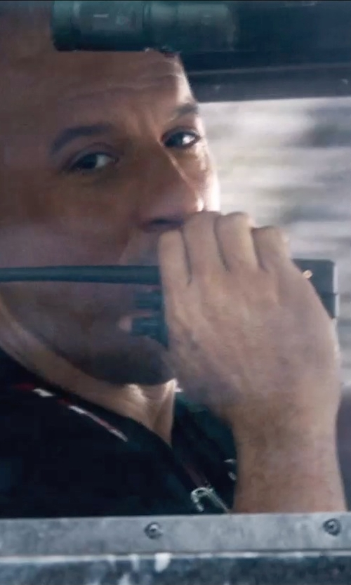 Vin Diesel with Icom Handheld Transceiver in Furious 7