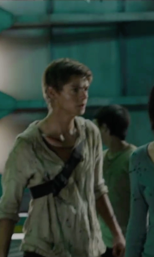 Thomas Brodie-Sangster with Zara Hooded Linen Shirt in Maze Runner: The Scorch Trials