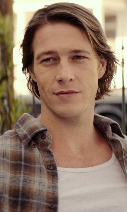 Luke Bracey with Wolverine Men's Creek Long Sleeve Shirt in The Best of Me