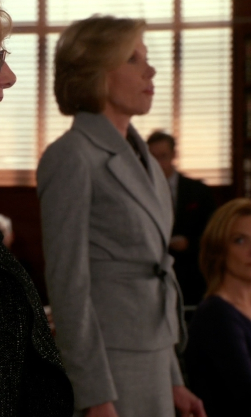 Christine Baranski with Armani Collezioni Single Breasted Blazer in The Good Wife
