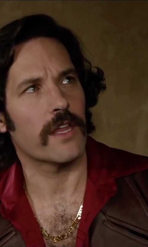 Paul Rudd with H2H Men's Wrinkle Free Slim Fit Dress Shirts in Anchorman 2: The Legend Continues