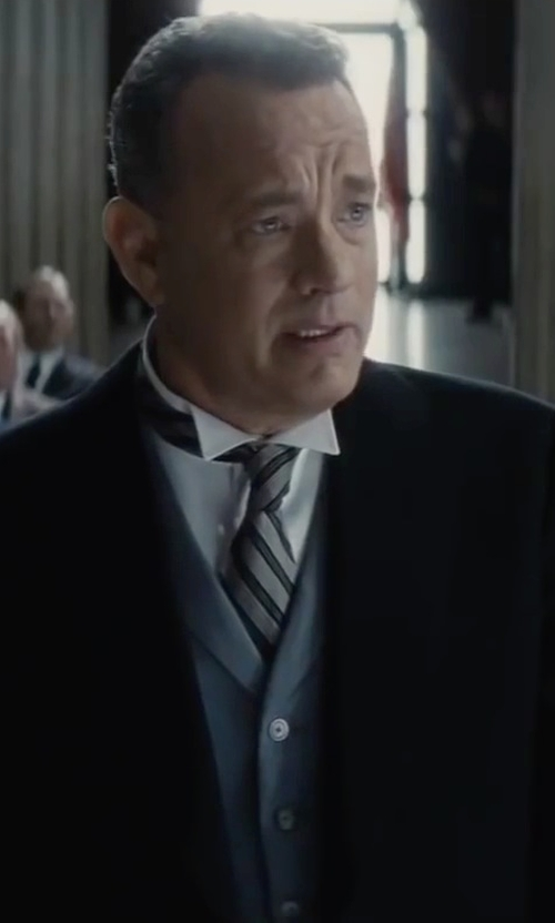 Tom Hanks with Stone Rose Solid Stretch Dress Shirt in Bridge of Spies