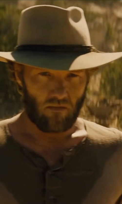 Joel Edgerton with Bailey Western Hardin Hat in Jane Got A Gun
