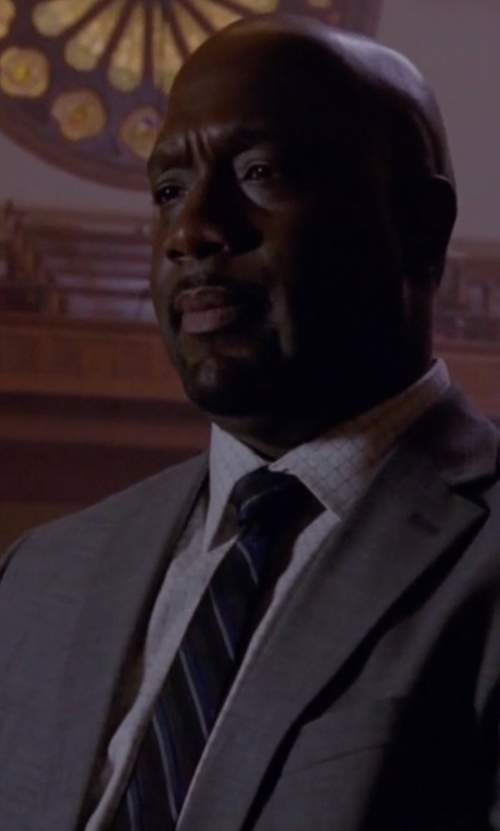 Richard T. Jones with Lauren Ralph Lauren Multi-Striped Tie in American Horror Story