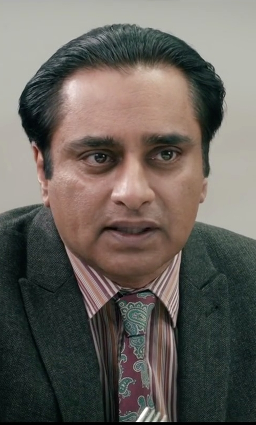 Sanjeev Bhaskar with English Laundry Multi Stripe Woven Dress Shirt in Absolutely Anything