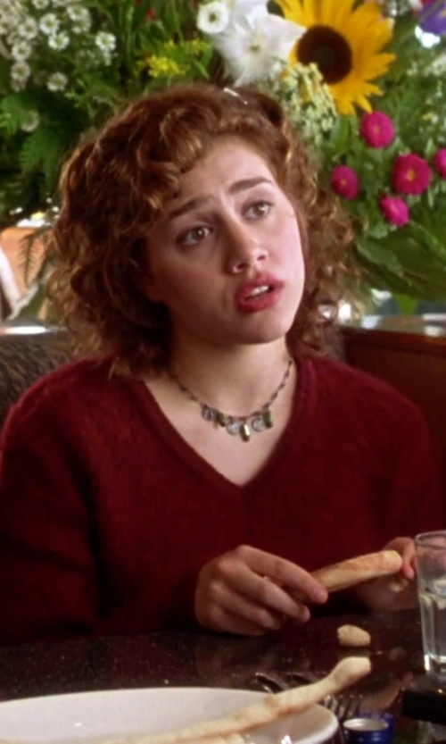 Brittany Murphy with Hope Collection V-Neckline Sweater in Clueless