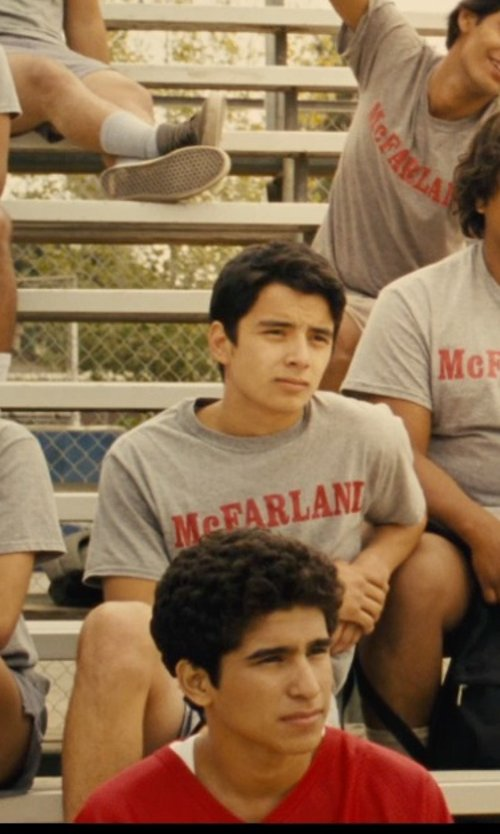 Unknown Actor with Sophie De Rakoff (Costume Designer) Custom Made McFarland Print T-Shirt in McFarland, USA