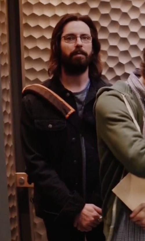 Martin Starr with Jean Shop Slim-Fit Denim Jacket in Silicon Valley