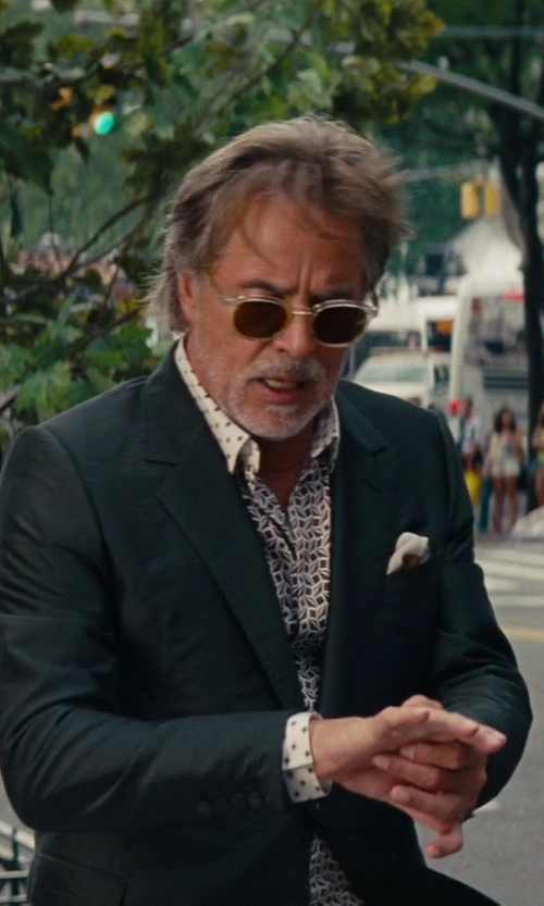 Don Johnson with Topman White Cross Print Long Sleeve Smart Shirt in The Other Woman