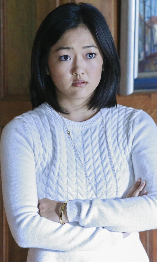Amy Okuda with Cartier Love Bracelet in How To Get Away With Murder