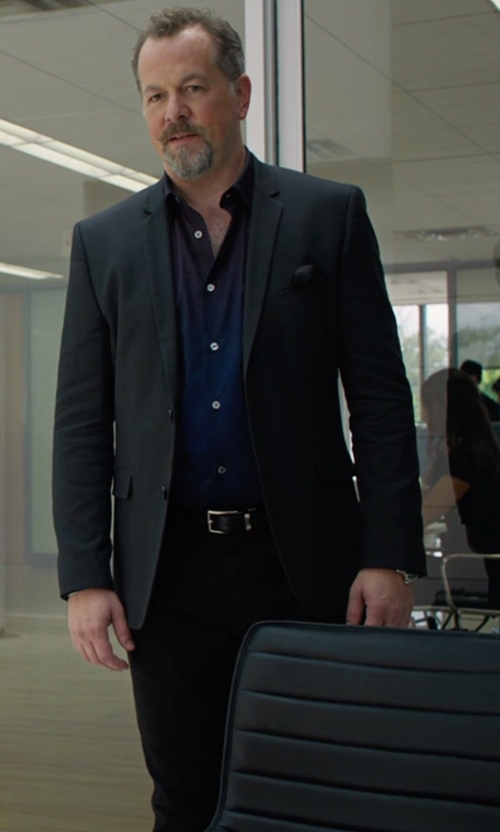 David Costabile with Z Zegna Two Piece Suit in Billions