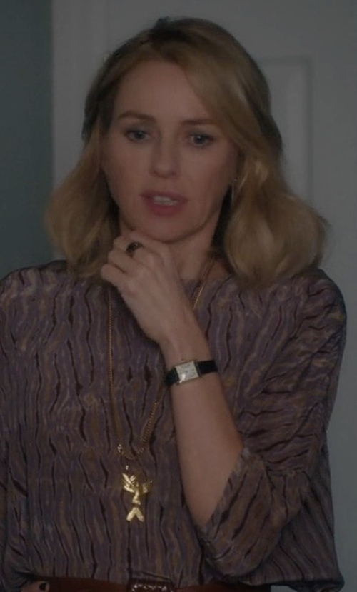 Naomi Watts with Cartier Louis Cartier Classic Tank Watch in Gypsy