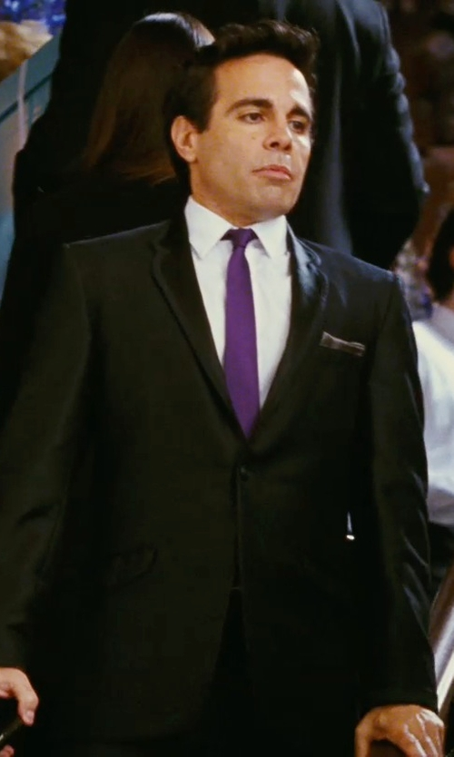 Mario Cantone with Saks Fifth Avenue Collection Silk Solid Pocket Square in Sex and the City