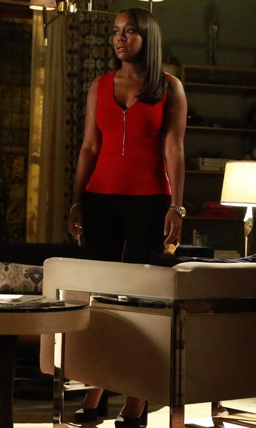 Aja Naomi King with BCBGMaxazria Lise High-heel Suede Pump in How To Get Away With Murder