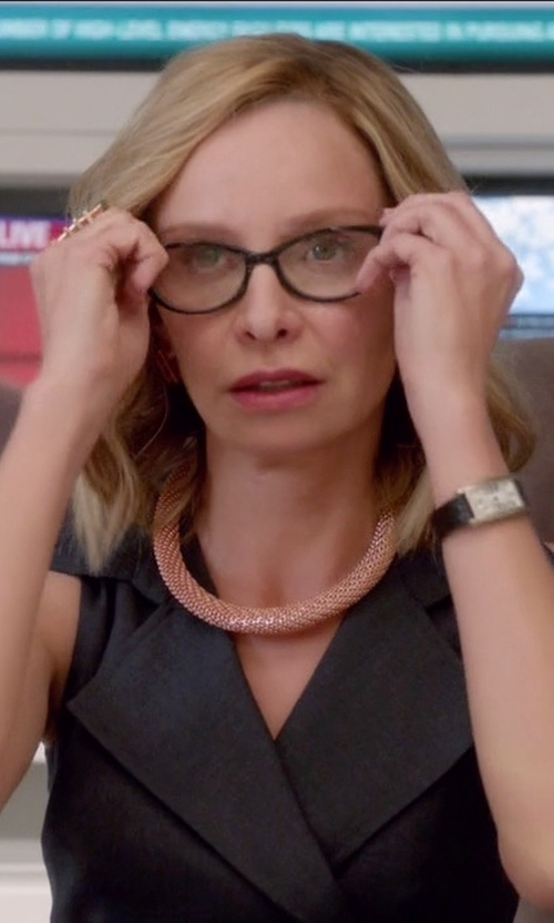 Calista Flockhart with Bulova Diamond Watch in Supergirl