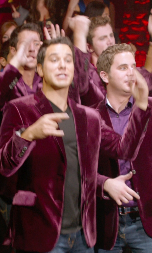 Skylar Astin with Theory Stiring Erie Sport Coat in Pitch Perfect 2