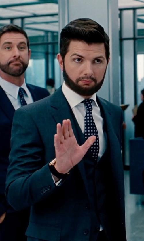 Adam Scott with MICHAEL Michael Kors Large Lexington Chronograph Bracelet Watch in The Secret Life of Walter Mitty