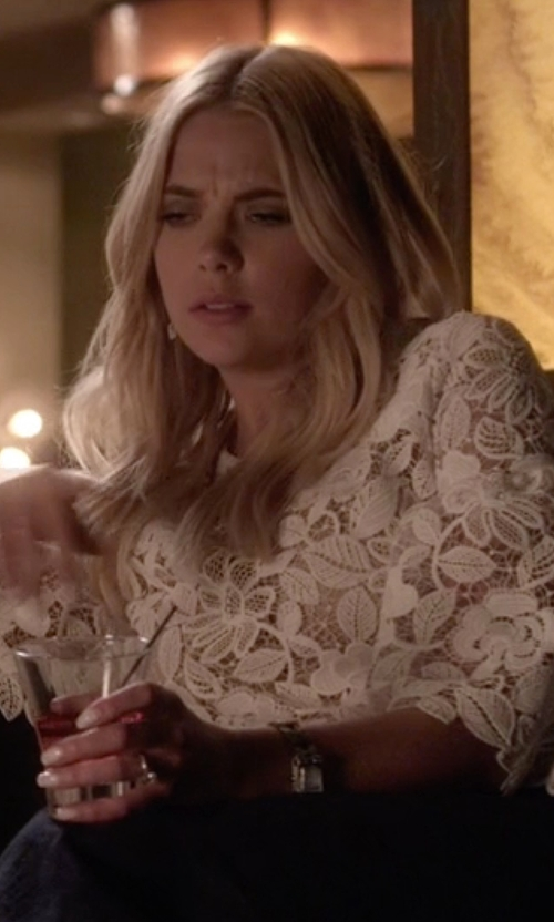 Ashley Benson with Tory Burch Watches Dalloway Silvertone Bracelet Strap Watch in Pretty Little Liars