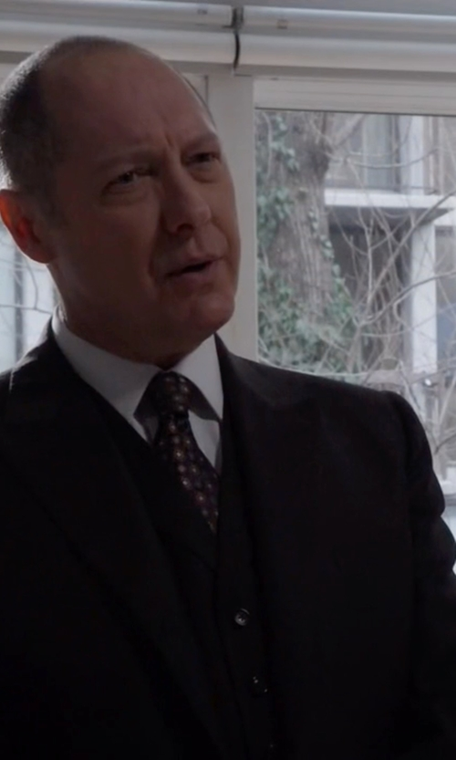 James Spader with Dolce & Gabbana Formal Three-Piece Suit in The Blacklist