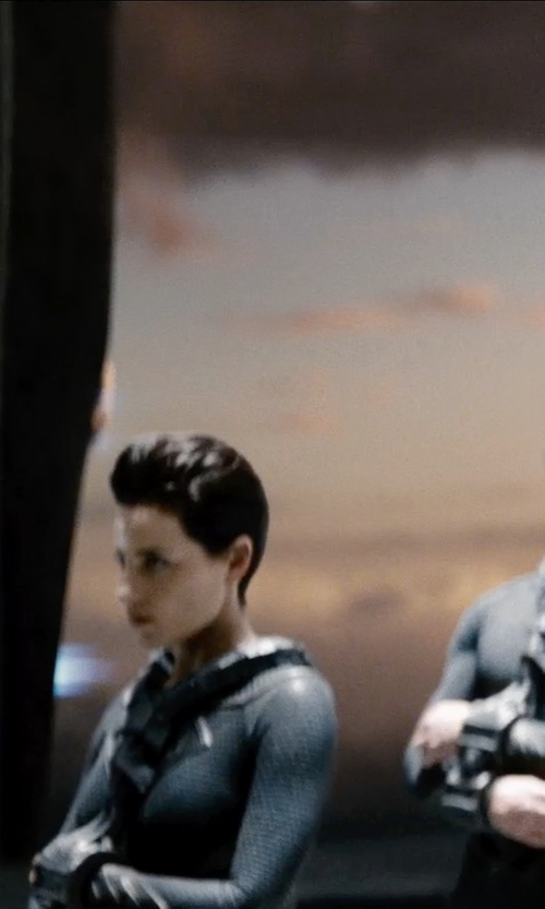 Antje Traue with Michael Wilkinson (Costume Designer) Custom Made Faora-Ul Kryptonian Suit in Man of Steel