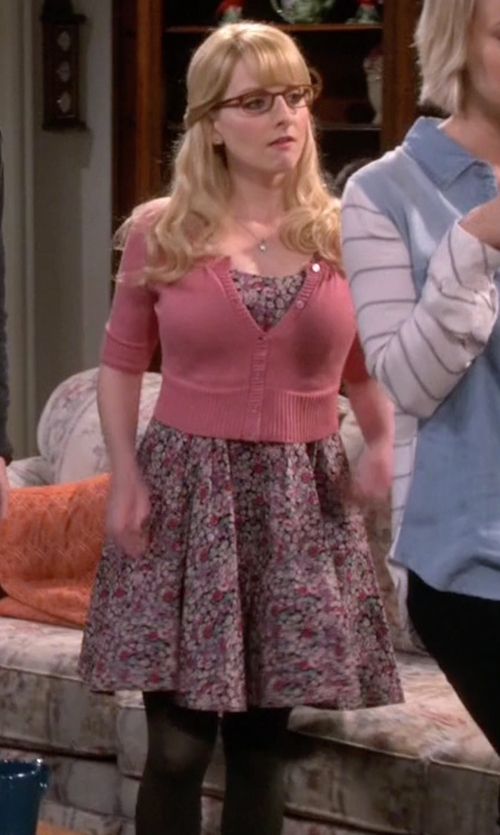 Melissa Rauch with Urban Outfitters Kimchi Blue Knit Floral Skater Dress in The Big Bang Theory