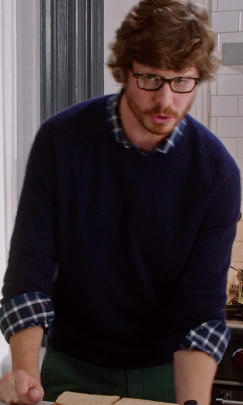 Anders Holm with Tommy Hilfiger Crew Neck Sweater in The Intern