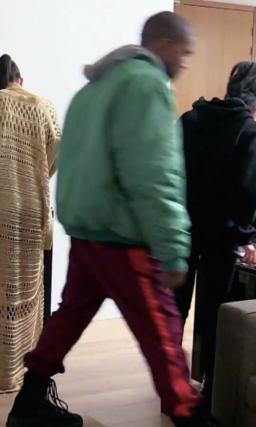 Kanye West with Adidas Yeezy Season 4 Calabasas Sweatpants in Keeping Up With The Kardashians