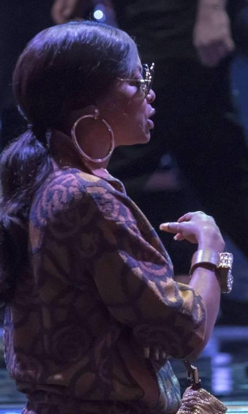 Taraji P. Henson with Balenciaga Stud Clasp Cuff Bracelet in Empire