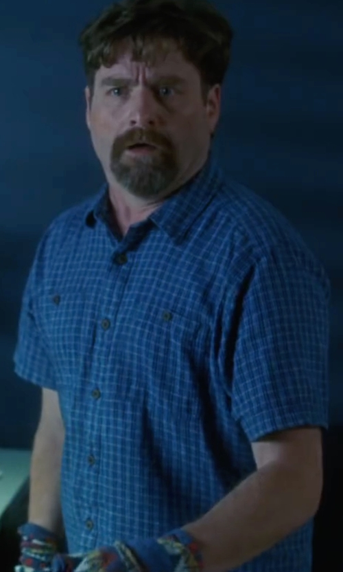 Zach Galifianakis with Fox Men's Jacquard Woven Shirt in Keeping Up with the Joneses