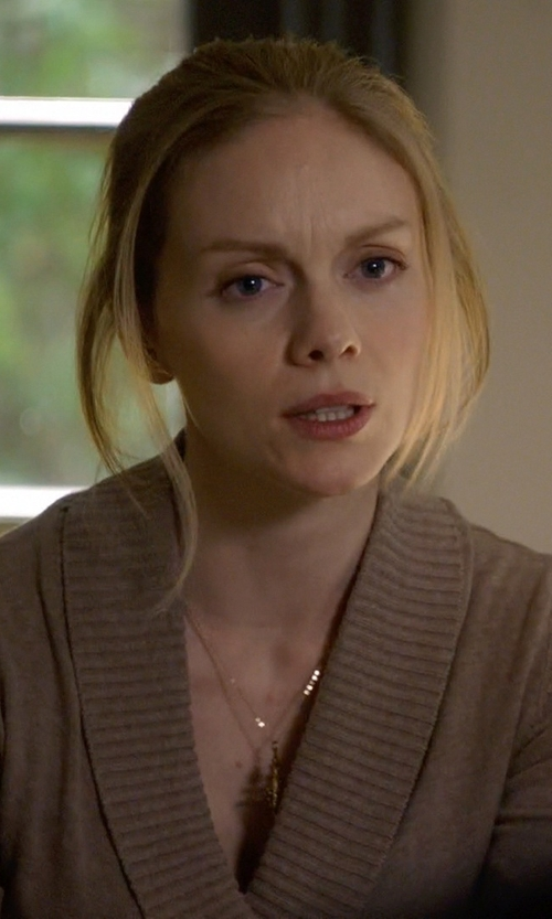 Christina Cole with MeiraT 'Charmed' Diamond Brushed Leaf Pendant Necklace in Suits