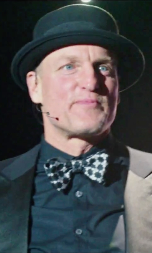 Woody Harrelson with Black Brown Patterned Silk Bow Tie in Now You See Me 2