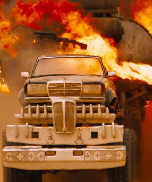 Hugh Keays-Byrne with Mercedes Benz Modified 450SEL 6.9 Sedan/Monster Truck in Mad Max: Fury Road