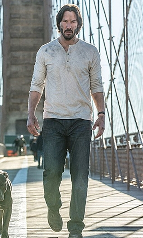 Keanu Reeves with Levi's Premium 511 Denim Jeans in John Wick: Chapter 2