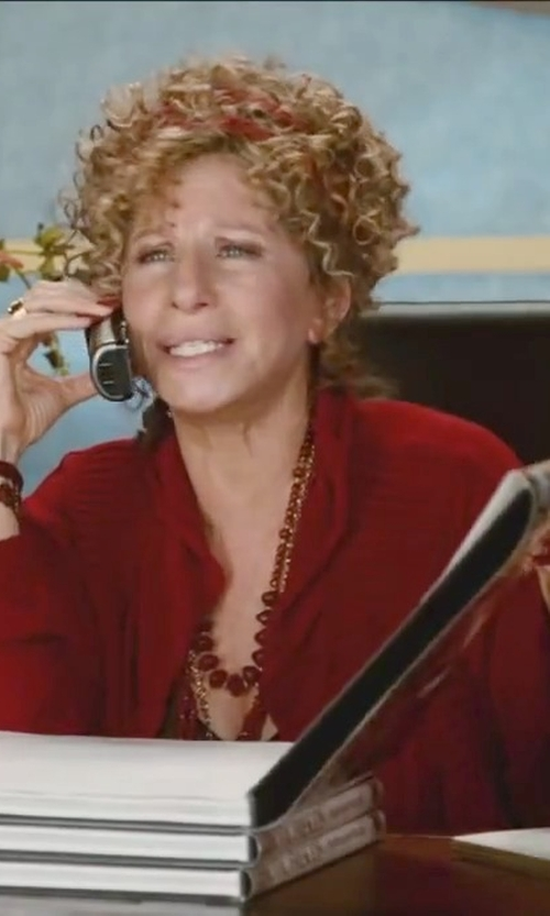 Barbra Streisand with Neiman Marcus	 Cashmere Pinched-Back Cardigan in Little Fockers