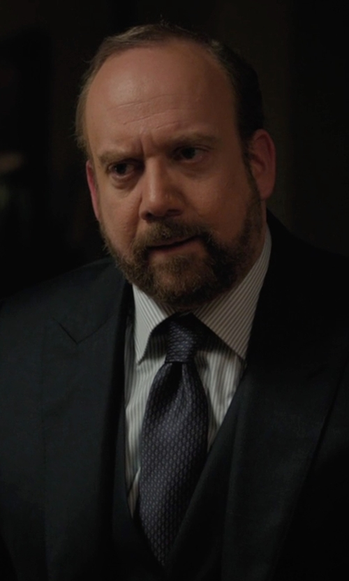 Paul Giamatti with Dolce & Gabbana Printed Tie in Billions