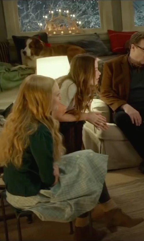 Amanda Seyfried with H By Hudson 'Kiver' Ankle Boots in Love the Coopers
