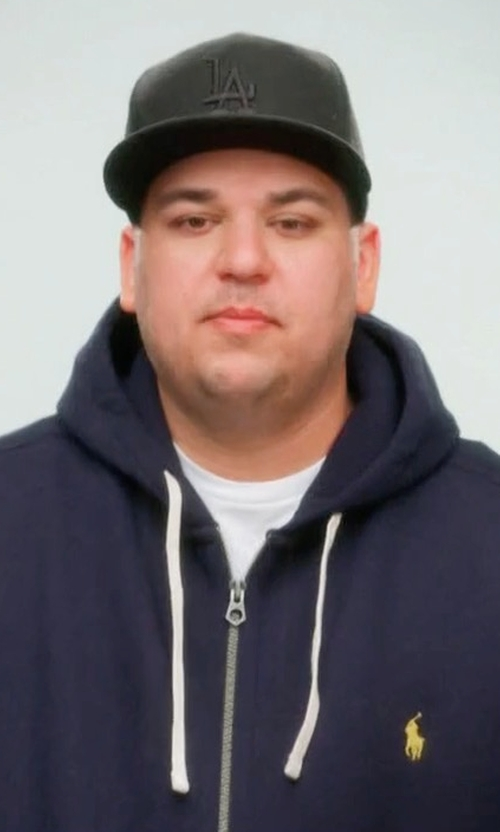 Rob Kardashian with Ralph Lauren Cotton Blend Fleece Hoodie in Keeping Up With The Kardashians