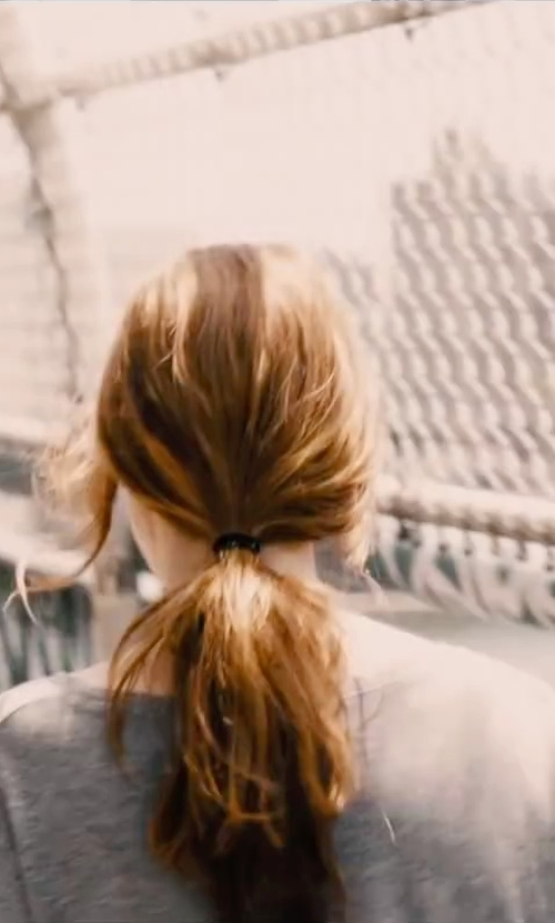 Jessica Chastain with T By Alexander Wang Round Neck T-shirt in The Disappearance of Eleanor Rigby