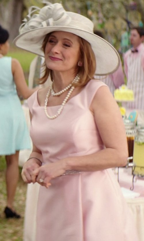 Caroline Goodall with Giambattista Valli Satin Flare Dress in The Best of Me