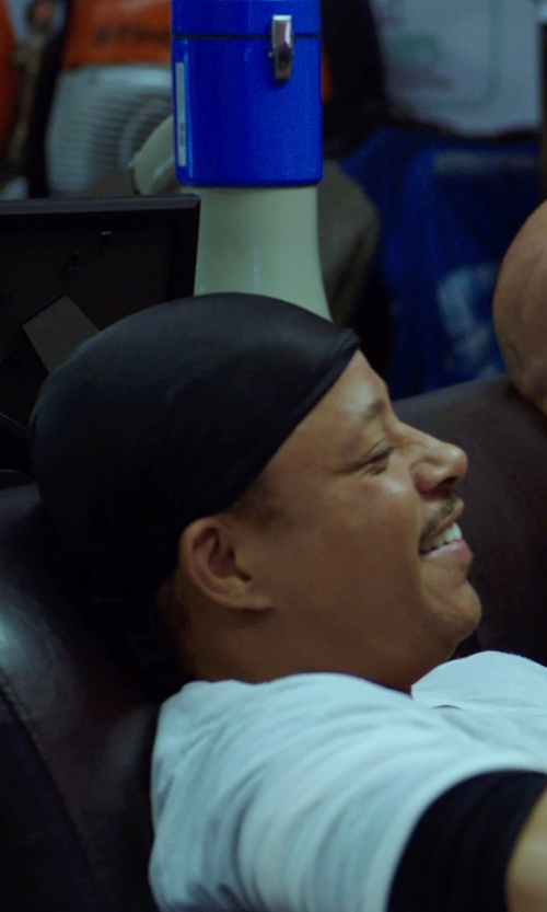 Terrence Howard  with Aero Tech Do Rag Athletic Wicking Fabric Protects Head and Neck in Sabotage