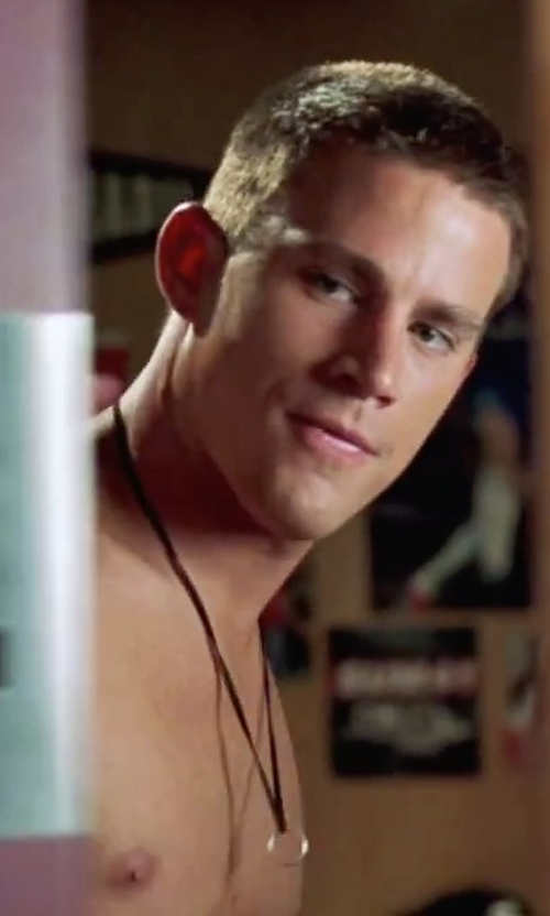 Channing Tatum with Topman Ring Pendant Necklace in She's The Man