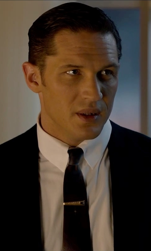 Tom Hardy with Jewelry Pot Yellow Gold Tie Bar Clip in Legend
