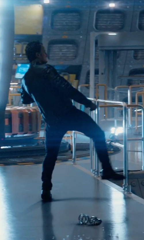 Jason Clarke with Bruno Magli Square-Toe Lace-Up Oxford Shoes in Terminator: Genisys