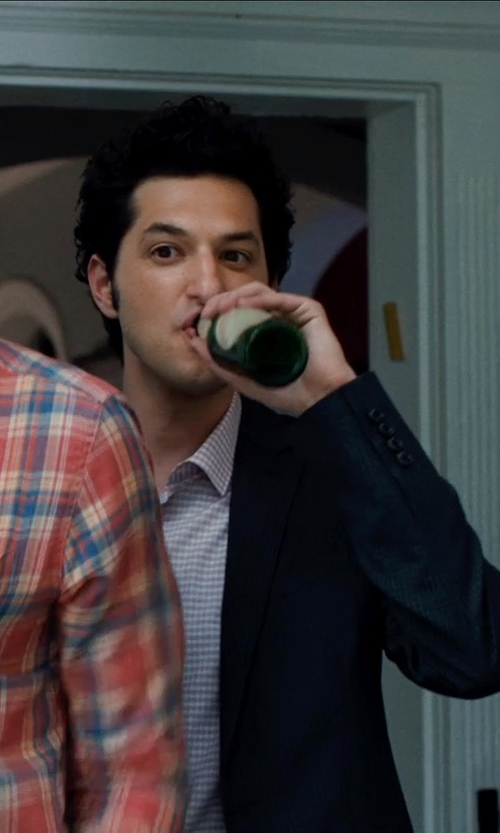 Ben Schwartz with Wooyoungmi Slim-Fit Wool-Blend Suit Jacket in This Is Where I Leave You