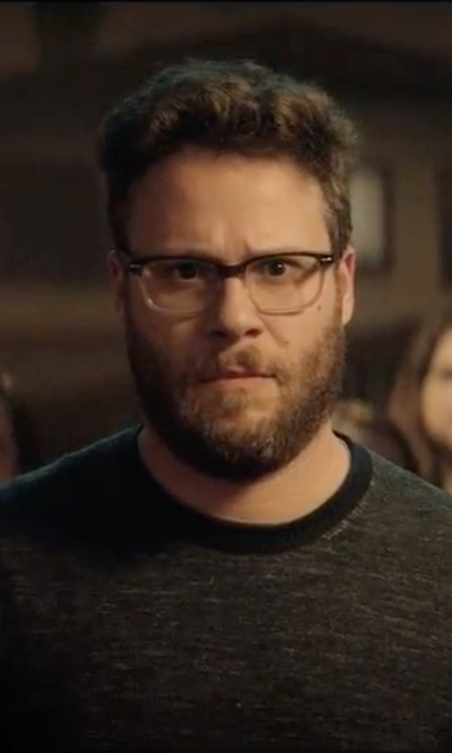 Seth Rogen with Topman Waffle Crew Neck T-Shirt in Neighbors 2: Sorority Rising